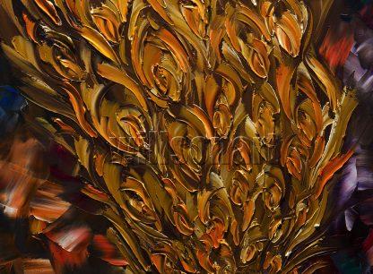 animal art peacock bird textured palette knife canvas painting modern home decor