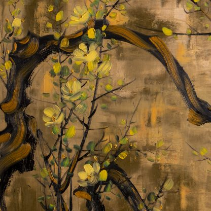 asian blossoms canvas oil painting