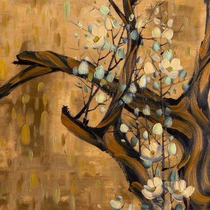 asian blossoms flower oil painting