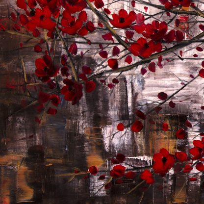 asian blossoms oil painting huge canvas