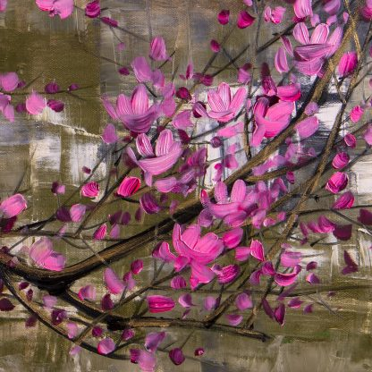 asian blossoms oil painting large canvas art