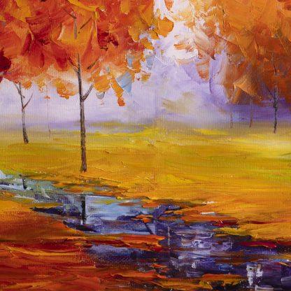 autumn landscape large oil painting