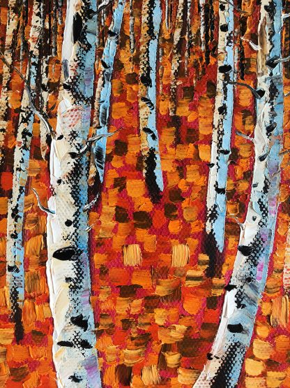 autumn landscape tree seasons forest textured canvas oil painting wall art