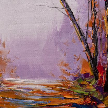 birch forest tree art landscape oil painting 16x20inches