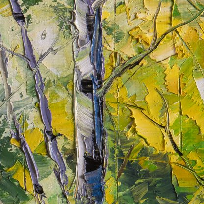 birch forest tree original landscape oil painting 16x20inches