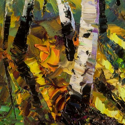 fall colors birch forest autumn landscape painting
