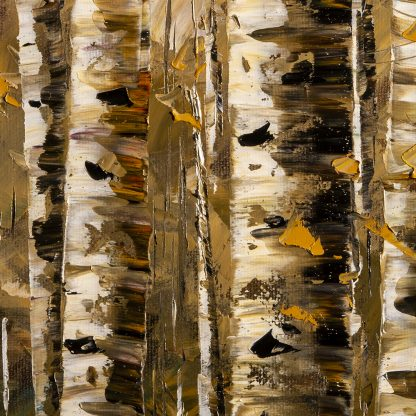 fall colors birch forest landscape oil painting