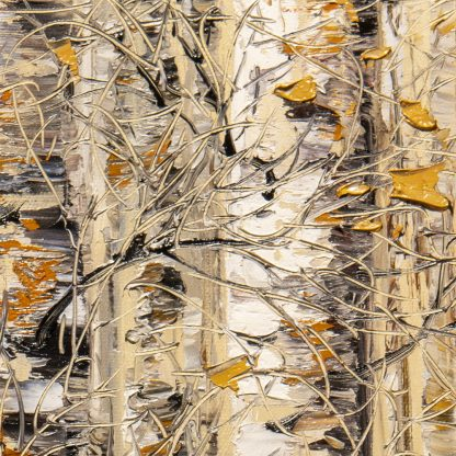 fall colors birch forest landscape painting