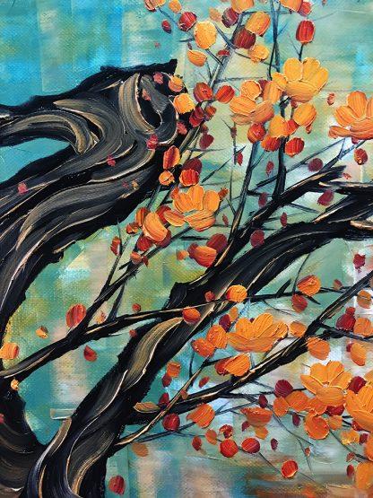flower canvas oil painting large wall art plum blossom decor