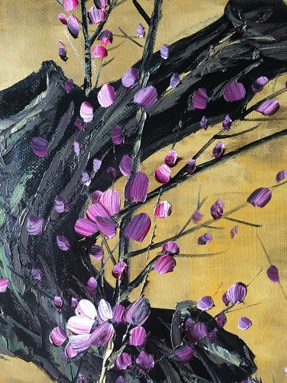 flower oil painting large wall art plum blossom 24x48inches