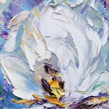 iris textured palette knife oil painting
