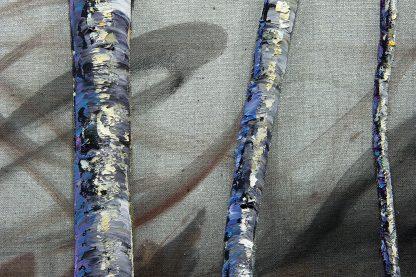 landscape birch forest textured canvas oil painting home decor