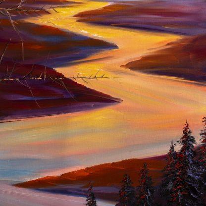 landscape textured large oil painting