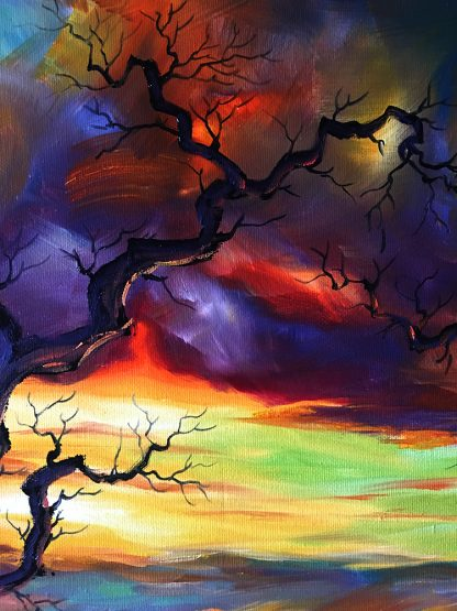landscape tree large canvas painting home decor