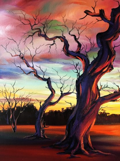 landscape tree large canvas painting wall decor 24x48inches