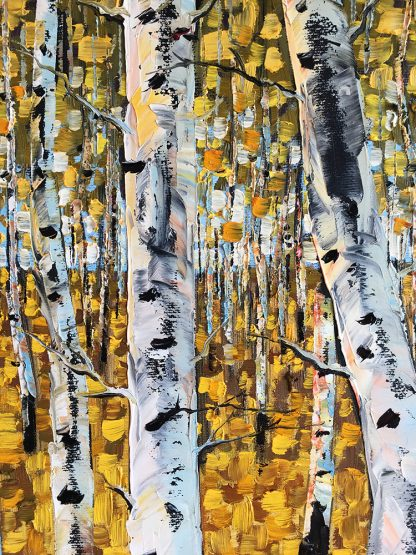 landscape tree textured large canvas oil painting wall decor