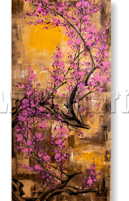 plum blossoms flower canvas oil painting