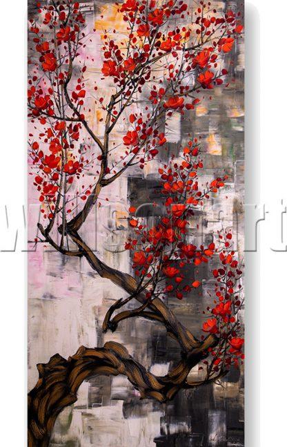plum blossoms flower oil painting