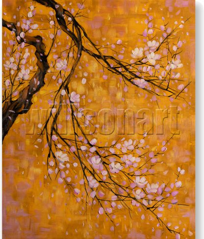 plum blossoms oil painting