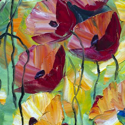 poppy field oil painting