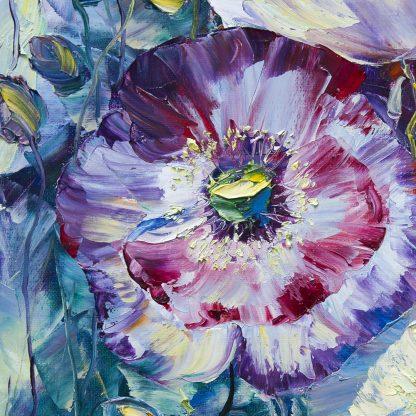 poppy painting closeup