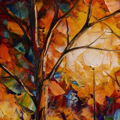 rainscape textured oil painting