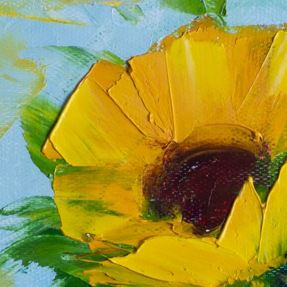 sunflower floral art canvas oil painting 12x16inches