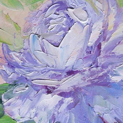 textured palette knife peony canvas oil painting home decor 12x16inches