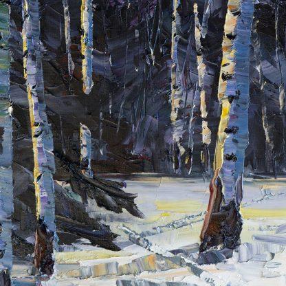 winter landscape original oil painting