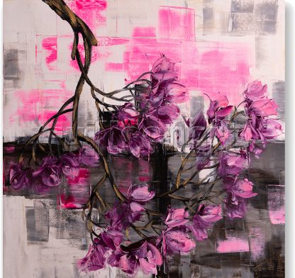 yulan blossoms oil painting